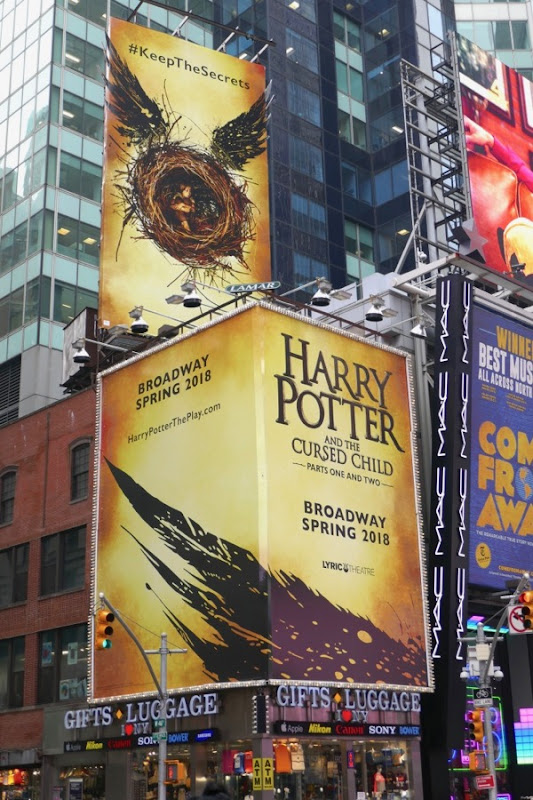 Harry Potter Cursed Child Broadway billboards