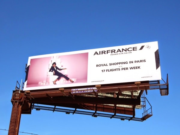 AirFrance Royal shopping Paris billboard
