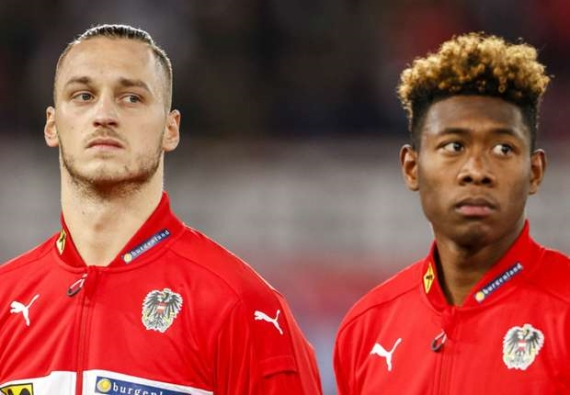 Marko Arnautovic and David Alaba - Austria