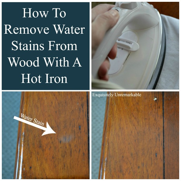 How to remove water stains from wood with a hot iron