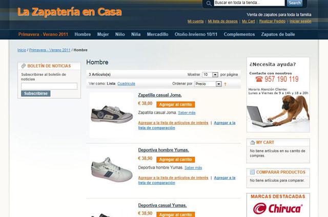 b542708fd95 Mejores Zapaterías Online: La zapateria en casa