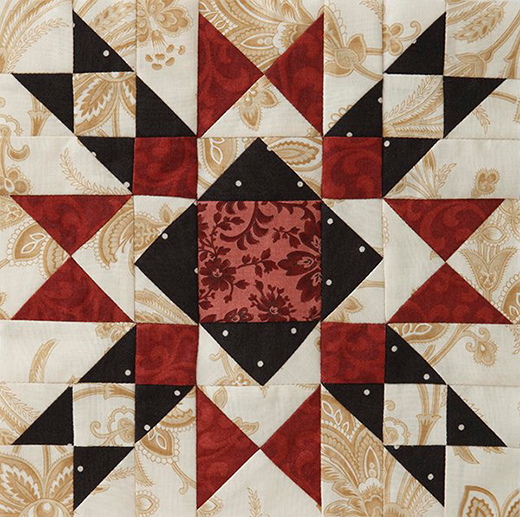 Mystery Quilt Block 4 designed by Monique Dillard of Open Gate Quilts.