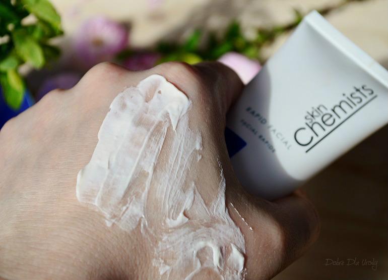 SkinChemists Rapid Facial Delikatna maska złuszczająca z kwasem glikolowym