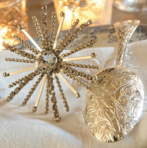 Snowflakes and Silver Spoons, image via Campagne as seen on linenandlavender.net