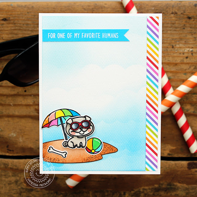 Sunny Studio Stamps: Devoted Doggies Favorite Human Summer Themed Card by Vanessa Menhorn