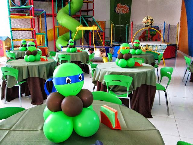 Centro de Mesa Tartarugas Ninjas balões
