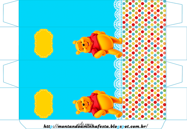 Winnie the Pooh Party, Free Printable Box.