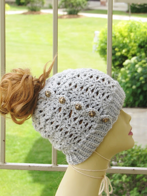 Messy Bun Crochet Hat Pattern