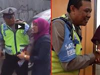Merasa Bersalah, Dora Natalia Datang dan Cium Tangan Pak Polisi