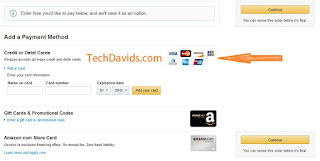 Amazon payment method