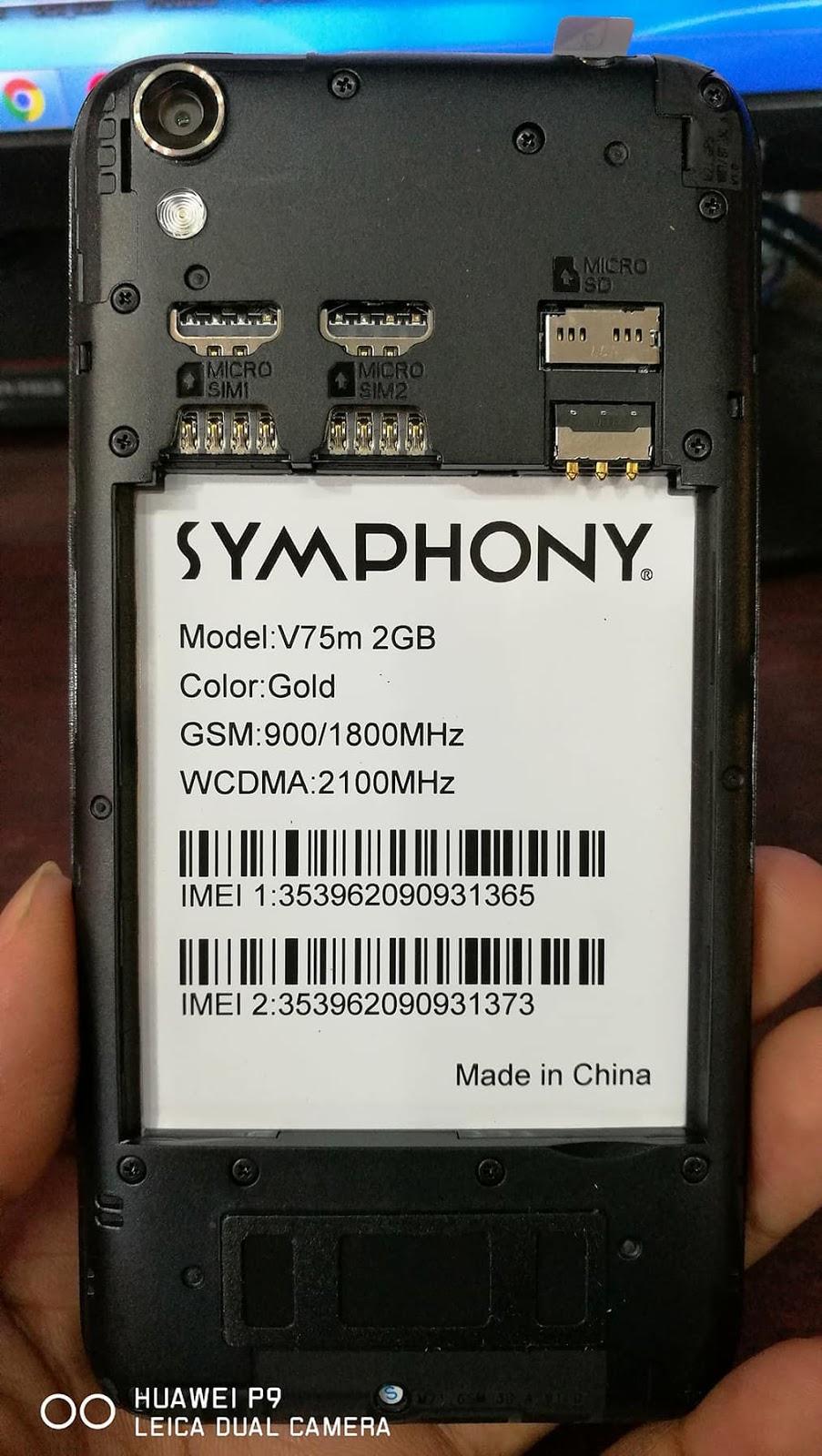 Symphony V75m 2GB Flash File