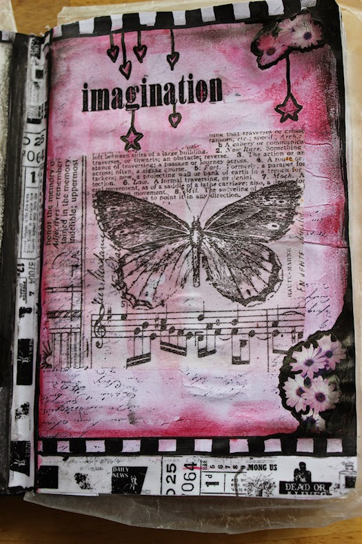 Trying To Imagine Art Journal Right Page by Tori Beveridge