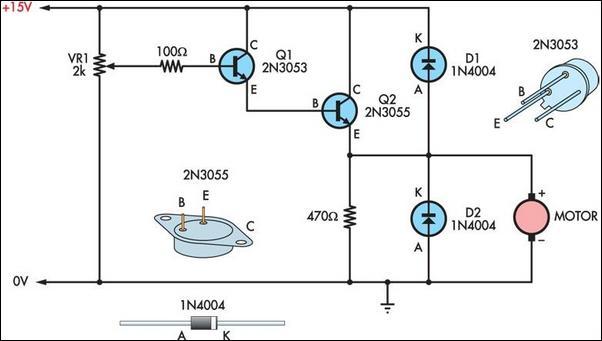 Dc Motor Driving Circuit Motorcontrol Controlcircuit Circuit