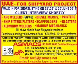 Shipyard project jobs in UAE