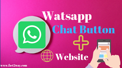 Whatsapp chat button on website