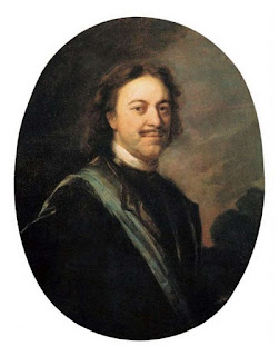 Portrait of Emperor Peter the Great by Andrey Matveevich Matveev (This portrait was probably made after a portrait by Carel de Moor)