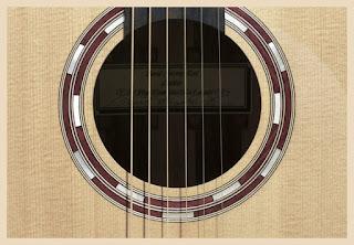 Gambar bagian gitar sound hole