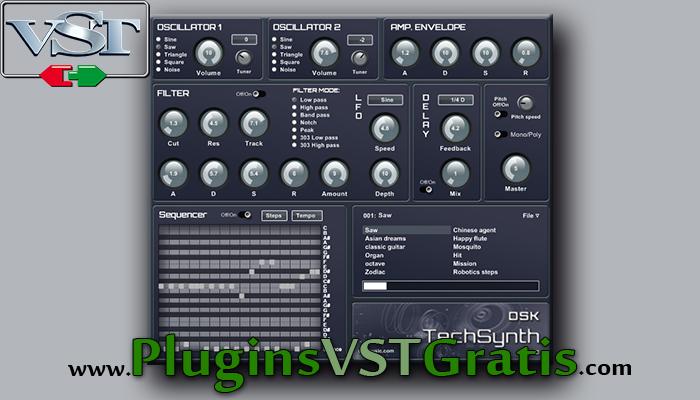 DSK TechSynth Pro - Plugin VST Sintetizador Grátis