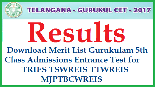 Telangana Gurukula Schools Admission Notification for 2017-18 Academic Year into 5th Class | GURUKULA CET 2017 Notification for Admission into TRIES TREIS, TSWREIS, TTWREIS, MJPTBCWREIS |Telangana  Residential Educational Institutions Entrance Test Notifications 2017 Results | Telangana Gurukulas 21st Centuary Schools Entrance Test Notification 2017 Download Hall Tickets | Date of Examination Prospectus Model Question Papers Download | List of Schools Fee Payment Online Download Application Form | Download GURUKULA Entrance Test Results |
