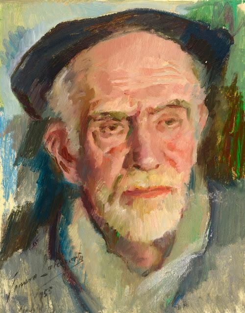 Genaro Lahuerta, Maestros españoles del retrato, Retratos de Genaro Lahuerta, Pintor español, Pintores Valencianos, Pintor Genaro Lahuerta, Retrato de Pio Baroja