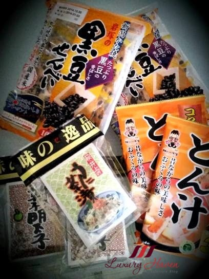 ochatsuke souvenirs from japan