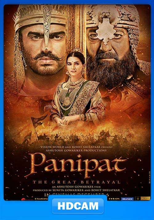 Panipat 2019 Hindi 720p HDCAM Esub x264 | 480p 300MB | 100MB HEVC
