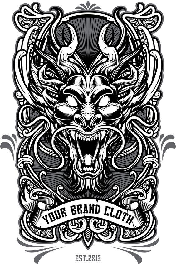 Dragon Tshirt Design Template