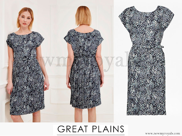 Kate Middleton wore Great Plains Cezanne Pleated Dress in its latest colourway