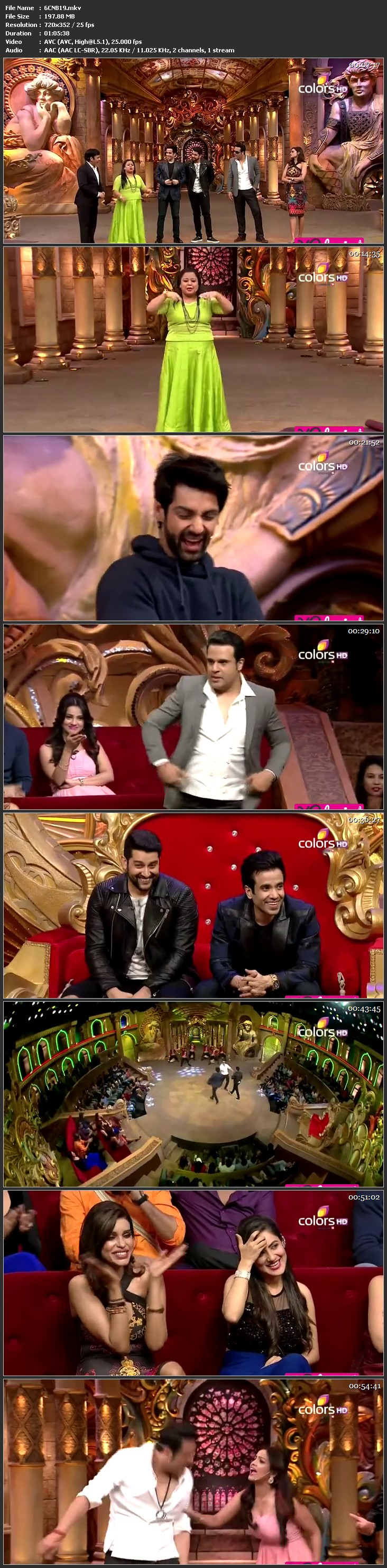 Screen Shot Of Comedy Nights Bachao 16th January 2016 Episode 19 200MB Watch Online