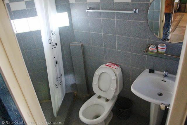 Bathroom in private island in Lumot Lake, Cavinti Laguna