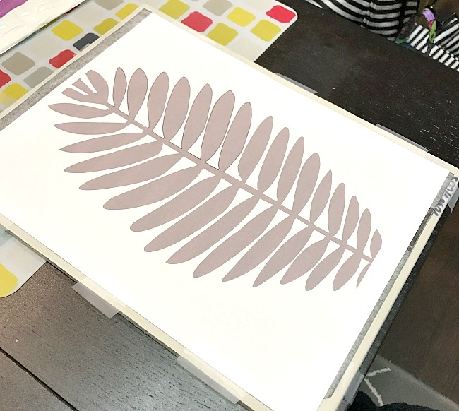 leaf design for creating a rubber stamp