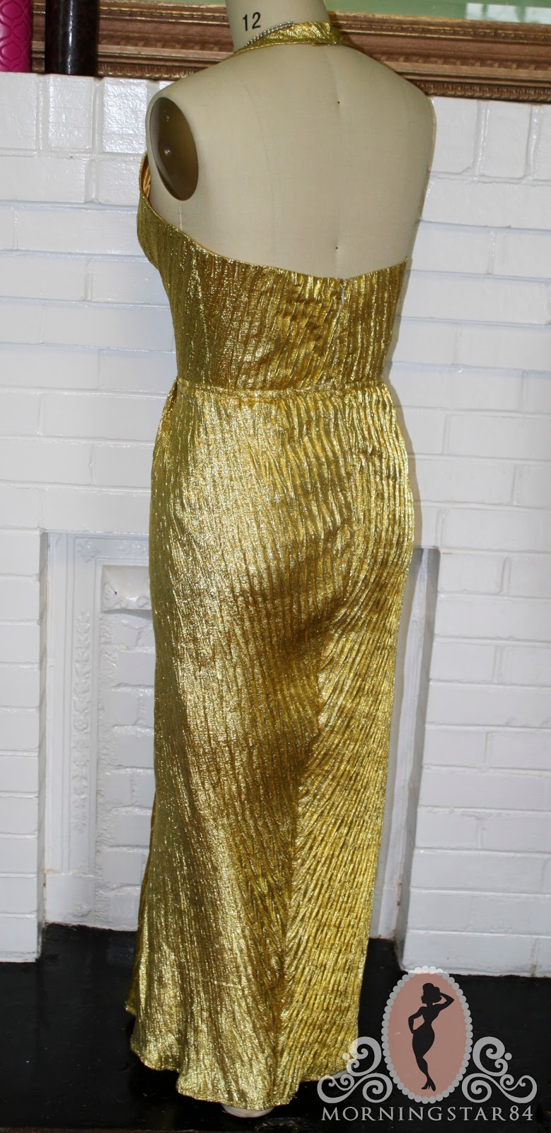 Morningstar Pinup Marilyn Monroe Gold Lame Dress Simplified