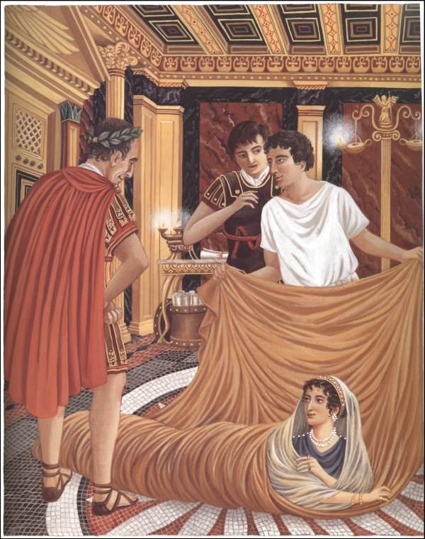 царица клеопатра и цезарь