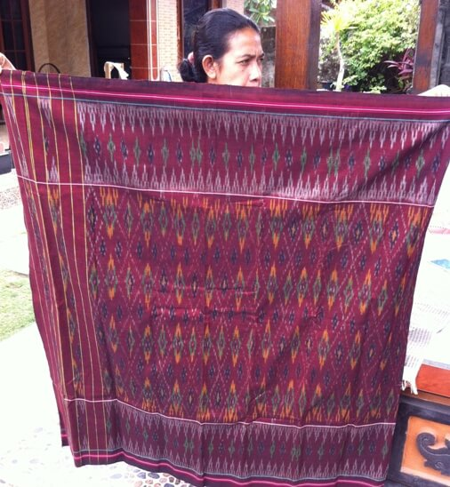 Hand woven cloth is really closely to the people BaliBeaches: Cepuk Woven Fabric Bali (Tenun Cepuk Bali) - H5N1 Captivating beauty of Balinese ikat Weaving & Supernatural Shield