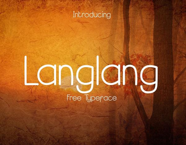 Download Font Terbaru 2018 - Langlang Free Font