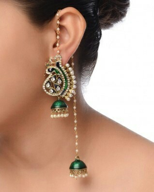 1 Kashmiri Style Pea Jhumkas For Wedding Guests