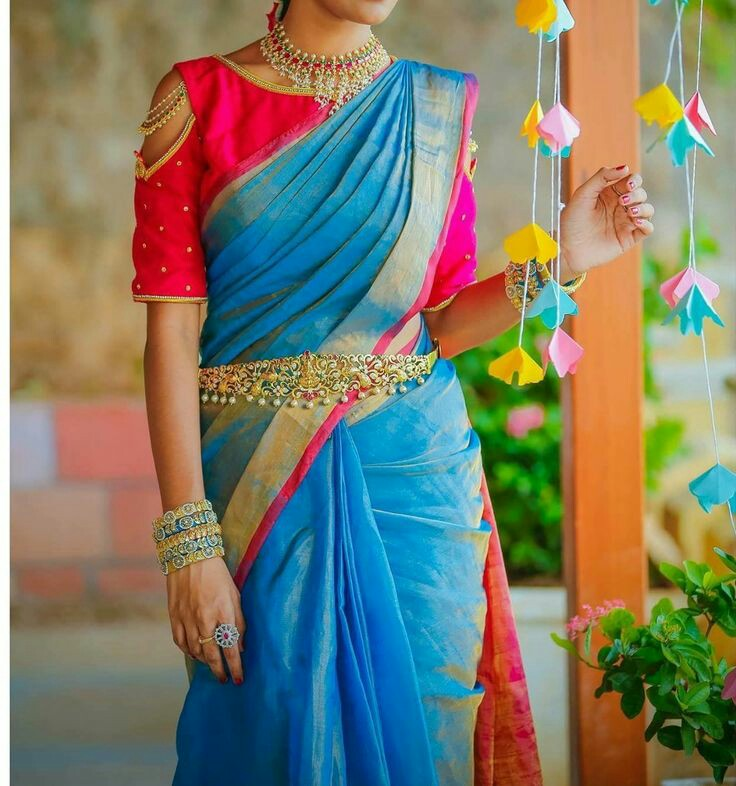 21 Trendy Cold Shoulder Saree Blouse Designs To Try Styling Tips