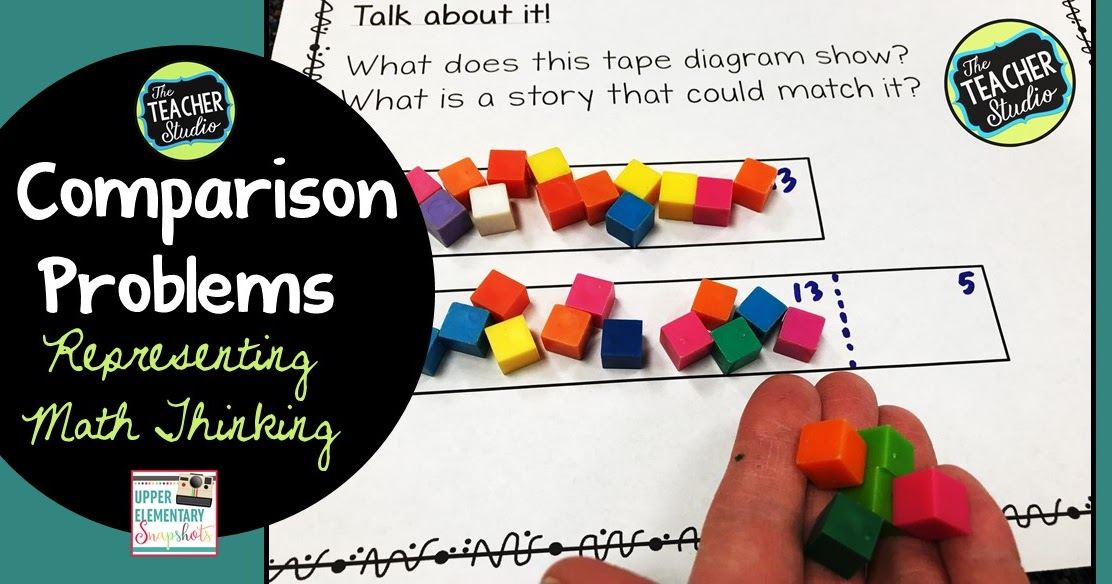 Comparison Problems  Using Tape Diagrams To Represent Math
