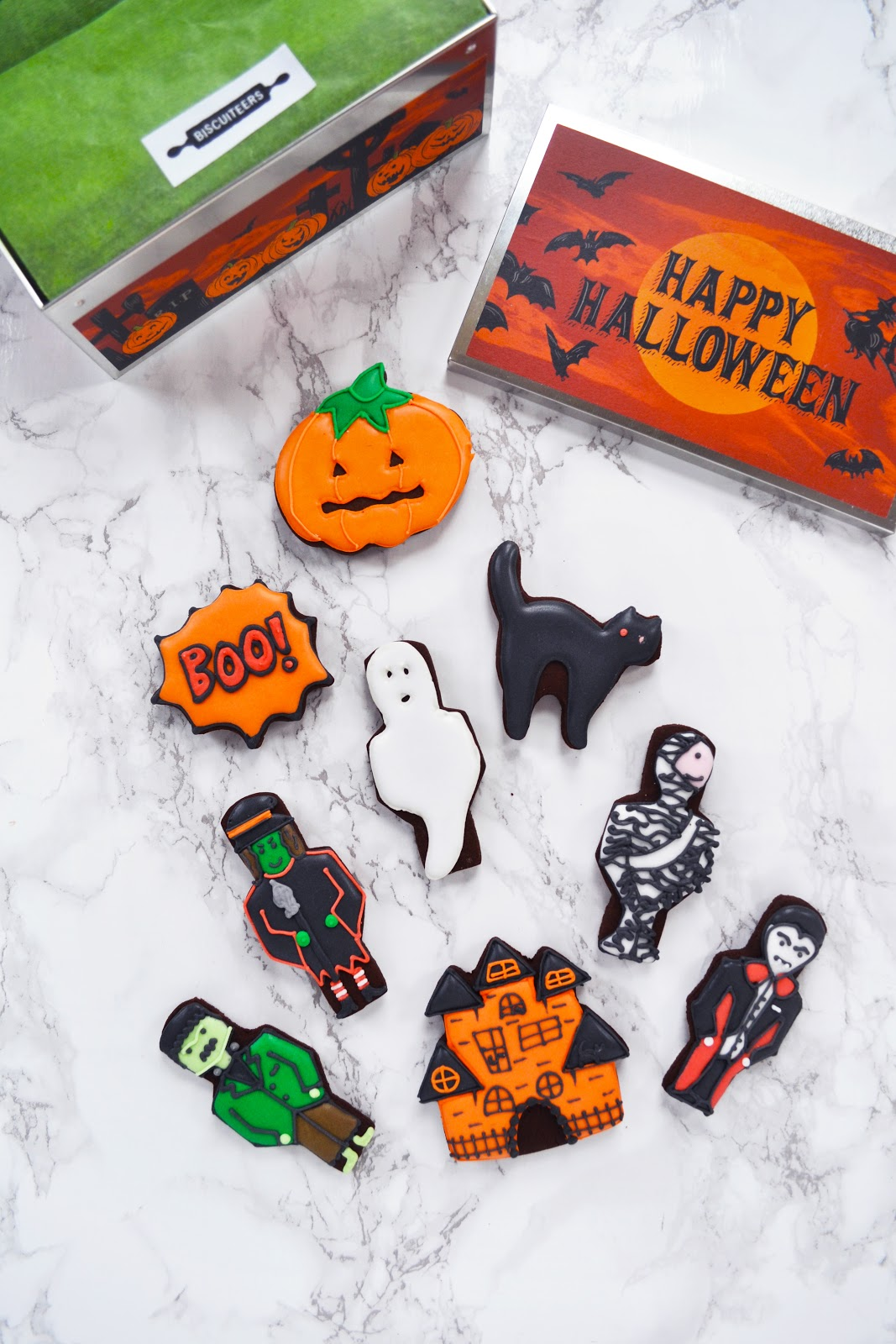 halloween ice biscuits, halloween food ideas