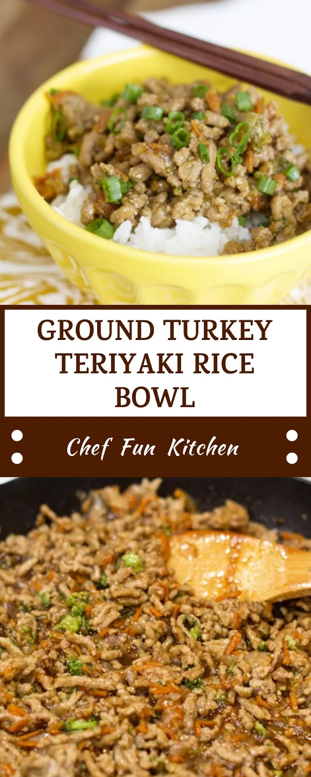 GROUND TURKEY TERIYAKI RICE BOWL