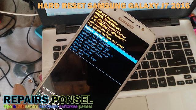 Hard Reset Samsung Galaxy J7 2016