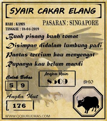 Syair SINGAPORE,18-04-2019