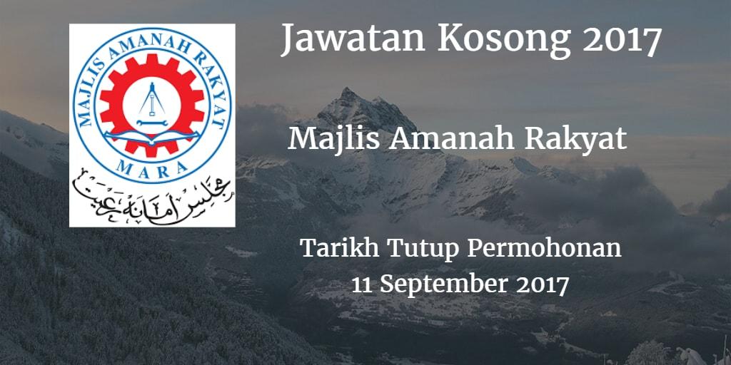 Jawatan Kosong MARA 11 September 2017