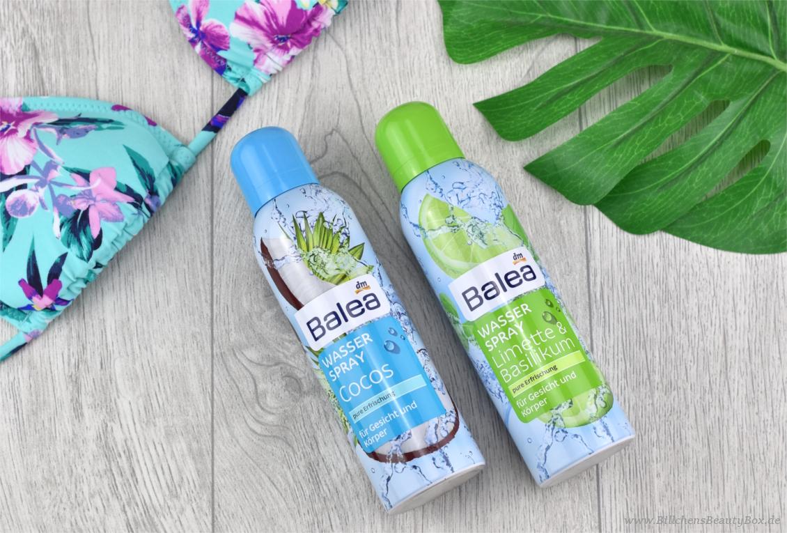 Neues von Balea: Wasserspray Cocos und Limette & Basilikum- Review