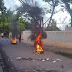 Realizan protesta en El Peñón por mala calidad de alimentos que sirven en centro educativo de esa comunidad
