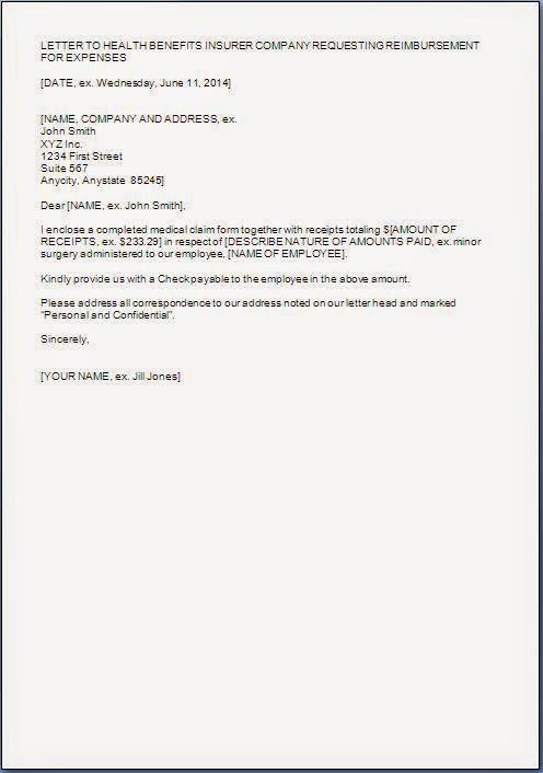 reimbursement letter template - Wwwlittlelegend