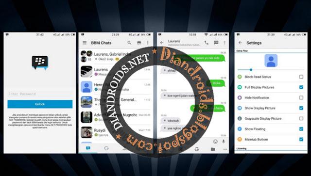 download BBM2 Mod Thema IOS Light Seperti Iphone Versi 2.12.0.11 Terbaru