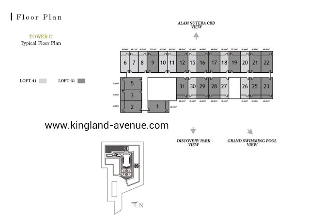 Floor Plan Kingland Avenue Serpong