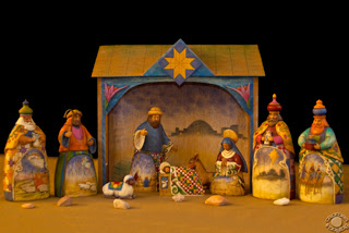 Cramer Imaging's professional quality fine art photograph of a Christmas Nativity scene with rocks