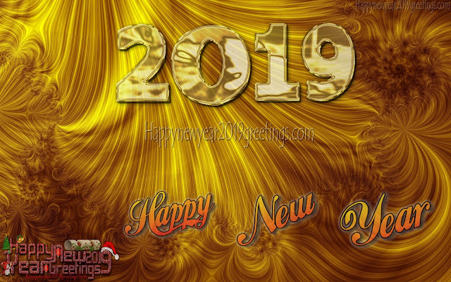 New Year 2019 Full HD Golden Background